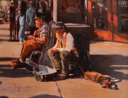 """The Trio  Seattle city, urban oil painting by Robin Weiss"" original fine art by Robin Weiss"
