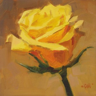 """Golden Rose"" original fine art by Carol Marine"