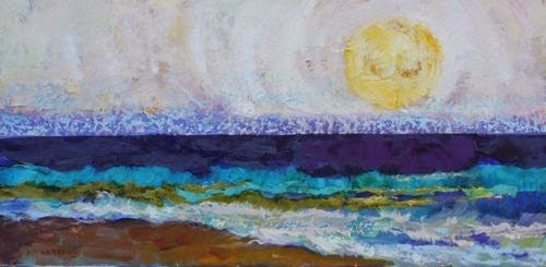 """Beach Plans, Contemporary Seascape Paintings by Arizona Artist Amy Whitehouse"" original fine art by Amy Whitehouse"