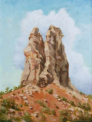 """Original Colorado Landscape Painting Independence Monument by  Colorado Artist Nancee Jean Busse,"" original fine art by Nancee Busse"
