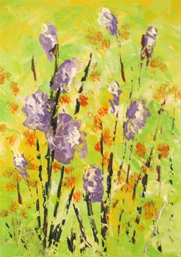 """Wildflowers2"" original fine art by Nan Johnson"