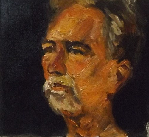 """Portrait10-10"" original fine art by Run-      Zhang Zane"