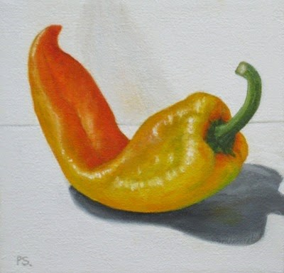 """Pimento Peppers III"" original fine art by Pera Schillings"