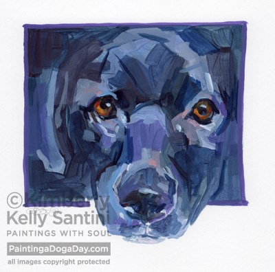 """Vinny, A Painted Sketch"" original fine art by Kimberly Santini"