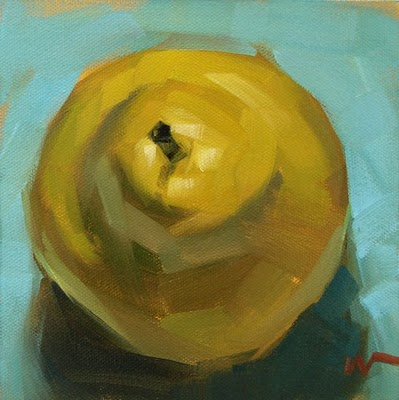 """Just a Pear 4 --- SOLD"" original fine art by Carol Marine"