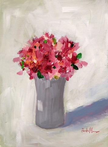"""""""Pink Flowers"""" original fine art by Pamela Munger"""