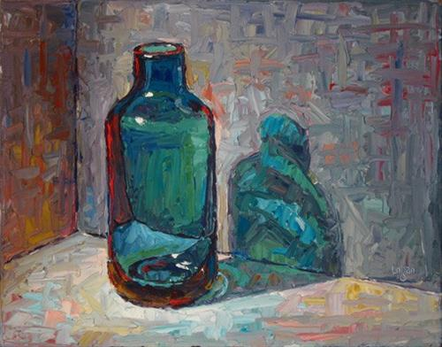 """Blueish Vase Thingy"" original fine art by Raymond Logan"