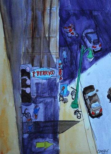 """Corner Joint"" original fine art by Donna Crosby"
