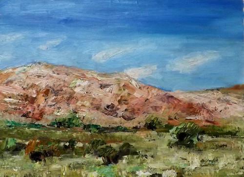 """Landscape,o19"" original fine art by Run-      Zhang Zane"