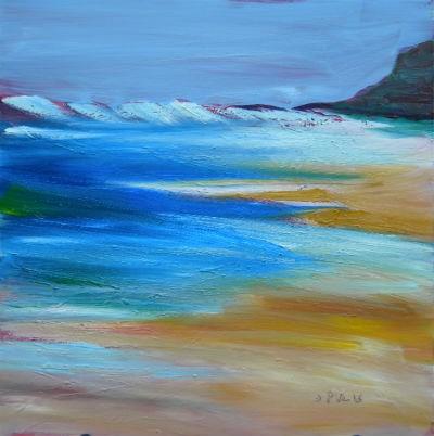 """Coastal Drama 3"" original fine art by Pam Van Londen"