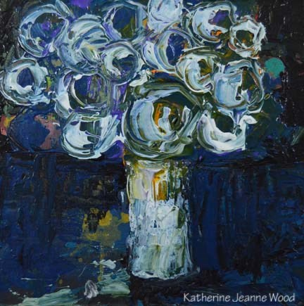 """Flower Series No 45"" original fine art by Katie Jeanne Wood"
