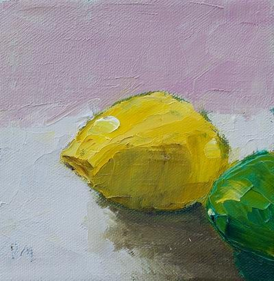 """Lemon and Lime"" original fine art by Pamela Munger"