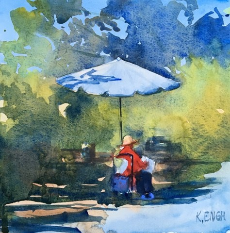 """On Location"" original fine art by Katharine Engh"