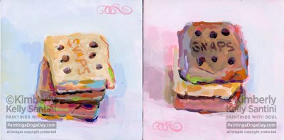 """Snaps I and Snaps II, An Online Auction"" original fine art by Kimberly Santini"
