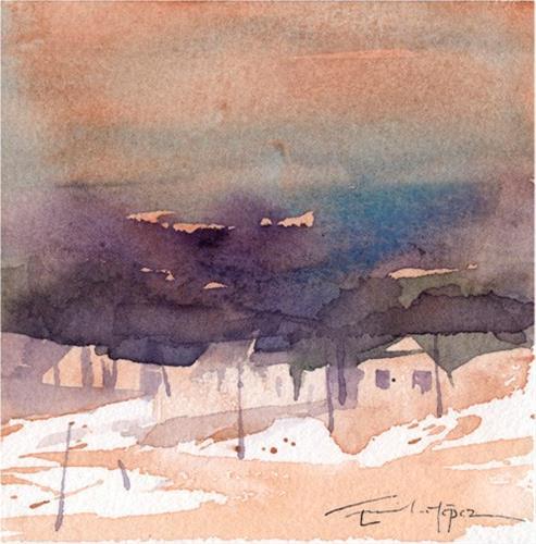 """paisaje 189"" original fine art by Emilio López"