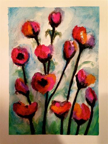 """""""Blossom"""" original fine art by Barbara Beckmann"""