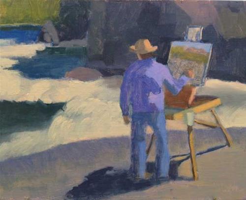 """Artist Paints the Falls"" original fine art by Bobbi Heath"