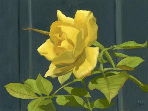 """""""THE LAST ROSE OF SUMMER"""" original fine art by Nancy Herman"""