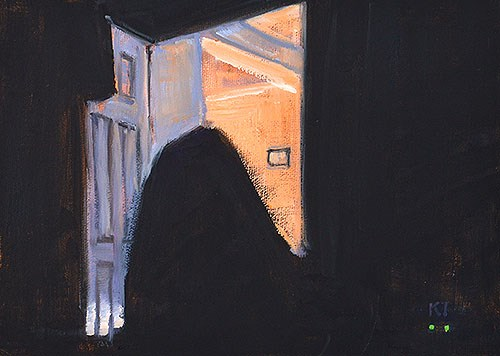 """The Ghost in the Bedroom"" original fine art by Kevin Inman"