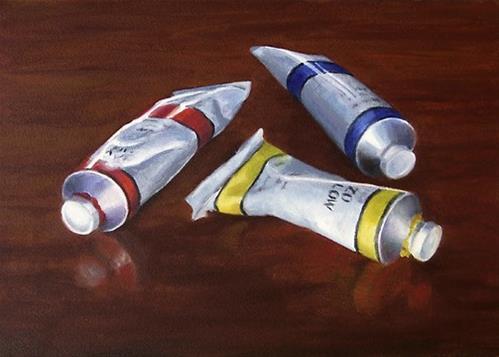 """Tubes of Oil Paint"" original fine art by Nance Danforth"