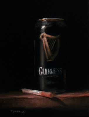 """Can of Guinness - study"" original fine art by Neil Carroll"