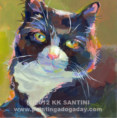 """Cleo"" original fine art by Kimberly Santini"