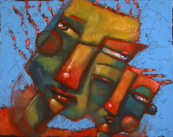 """Offshoot In Green"" original fine art by Brenda York"