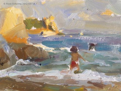 """Seascape summer Thailand #J"" original fine art by Roos Schuring"