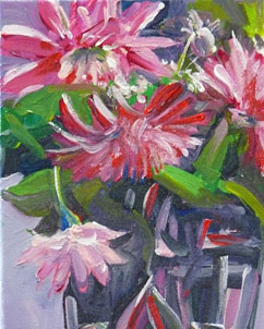 """Still Life With Mums"" original fine art by Darlene Young"