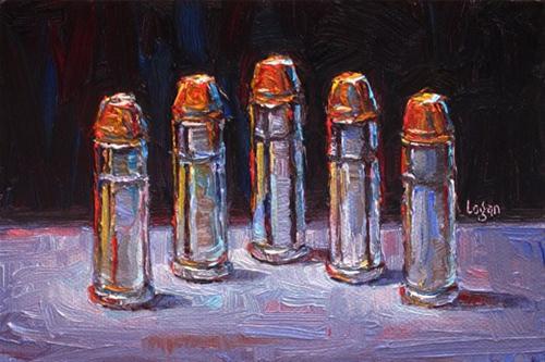 """Five"" original fine art by Raymond Logan"