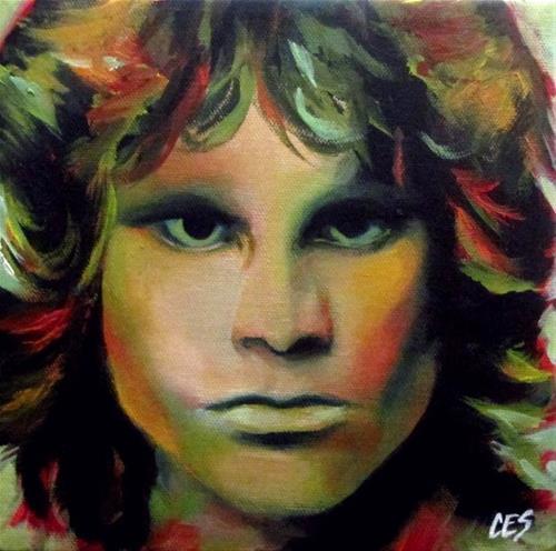 """Jim Morrison"" original fine art by ~ces~ Christine E. S. Code"