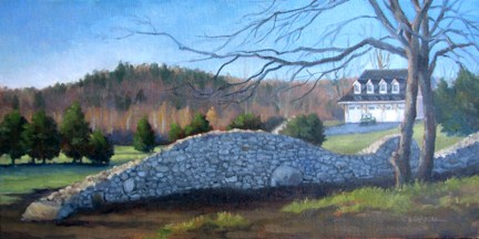"""COMMISSION: 'The Stone Wall' An Original Oil Painting by Claire Beadon Carnell"" original fine art by Claire Beadon Carnell"