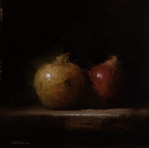 """Two Pomegranates"" original fine art by Neil Carroll"