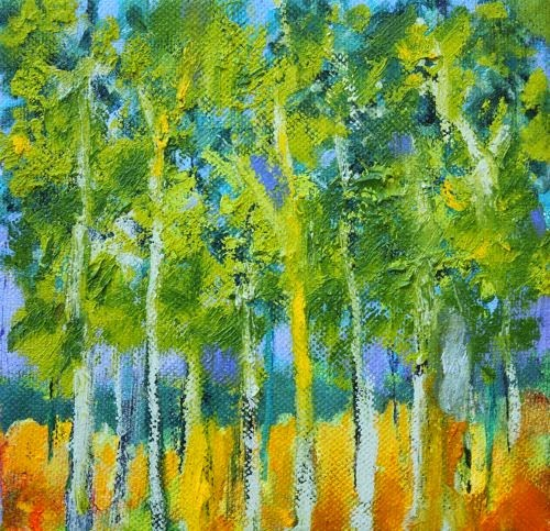 """Trees, Contemporary Landscape Paintings by Arizona Artist Amy Whitehouse"" original fine art by Amy Whitehouse"