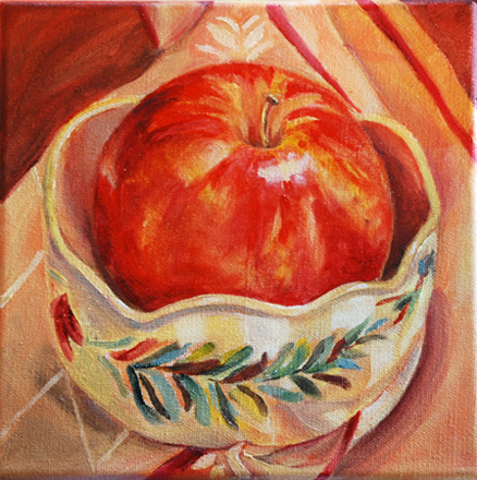 """An Apple A Day"" original fine art by Carol DeMumbrum"