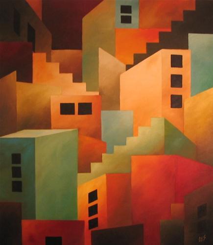 """""""Metropolis"""" original fine art by ~ces~ Christine E. S. Code"""