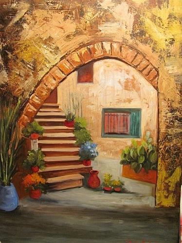 """A New Orleans Courtyard"" original fine art by Barbara Haviland"