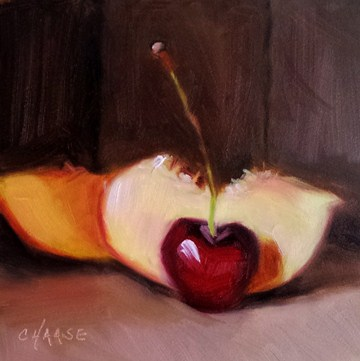 """Cherry-osity"" original fine art by Cindy Haase"