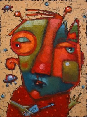 """Space Cadet"" original fine art by Brenda York"