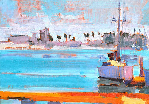 """Sailboat, Coronado"" original fine art by Kevin Inman"
