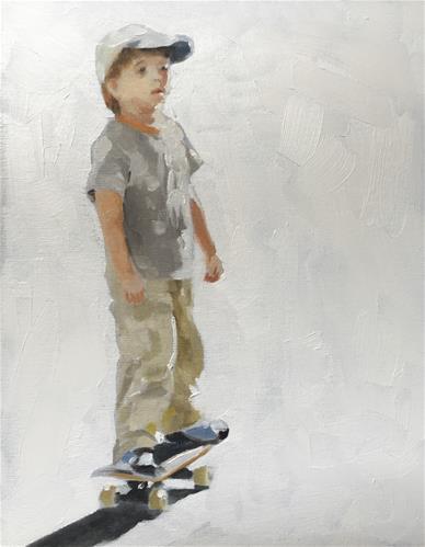 """""""Skater Boy"""" original fine art by James Coates"""