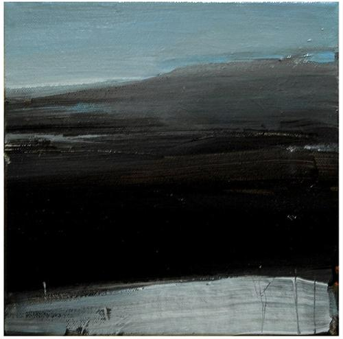 """Dark landscape"" original fine art by Steven Goodman"