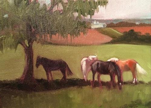 """Hazy Pennsylvania Landscape"" original fine art by Elaine Juska Joseph"