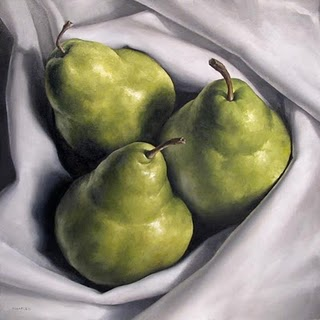 """Pear Trio"" original fine art by Michael Naples"