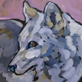 """White Wolf Profile"" original fine art by Kat Corrigan"