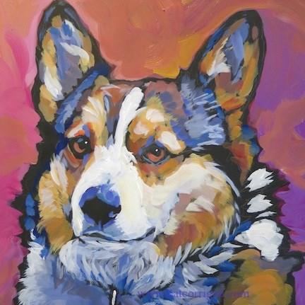"""""""Max, July 13"""" original fine art by Kat Corrigan"""