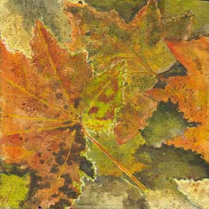 """Fall Leaves"" original fine art by Kara Butler English"