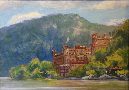 """Bannerman Castle"" original fine art by Jamie Williams Grossman"