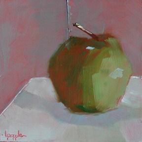 """APPLE CHALLENGE"" original fine art by Linda Popple"