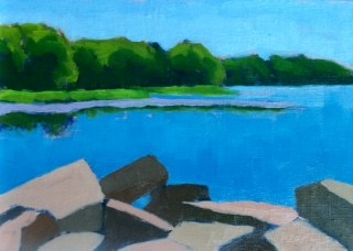 """Rocks at Cove Road"" original fine art by Bobbi Heath"
